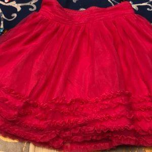 Cherokee 5t ruffle tulle skirt overlay